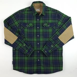 Under Armour Plaid Cold Gear Elbow Patch Shirt